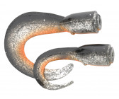 Savage Gear 3D Hard Eel Spare Tails 'Dirty Silver' 17cm