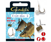 Gamakatsu G1-103 40cm with Bait Band 012 (0,16mm) (6st)