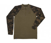 Fox Chunk Long Sleeve Zipped Top 'Khaki Camo' M