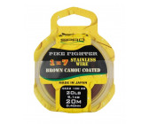 Spro Pike Fighter 1x7 Brown Coated Wire-40 lbs 0,50mm 18,2kg