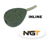 NGT Inline Flat Pear Lead 45g