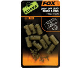 Fox Edges Drop Off Lead Plugs & Pins Trans Khaki