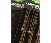Korda Leadcore Leaders Ring Swivel Gravel Brown 3 stuks