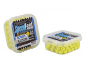 Cresta speedfeed pre-drilled fluo mini method boilies 'fluo scopex' (9mm) (80g)