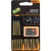 Fox Edges Power Grip Lead Clip Kit Size 7 Trans Khaki