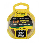Spro Pike Fighter 1x7 Brown Coated Wire 20 lbs 0,40mm 9,1kg