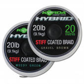 Korda Hybrid Stiff Coated Braid Gravel Brown 20lb (20m)