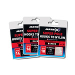 Matrix Hooks To Nylon Super Pole Barbed Size 10 (10 stuks)