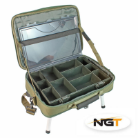 NGT Tacklebag + Tacklebox + Bivvy Tafel (40cm x 36.5cm x 6.5cm)