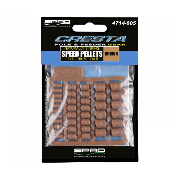 Spro Cresta Speed Pellets Brown (4, 6 en 8mm)
