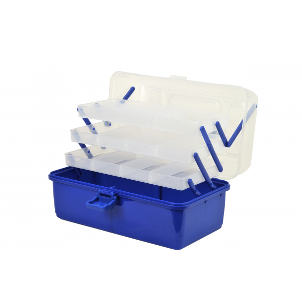 Shakespeare Cantilever Box 'Clear/Blue' (36x20x20cm)