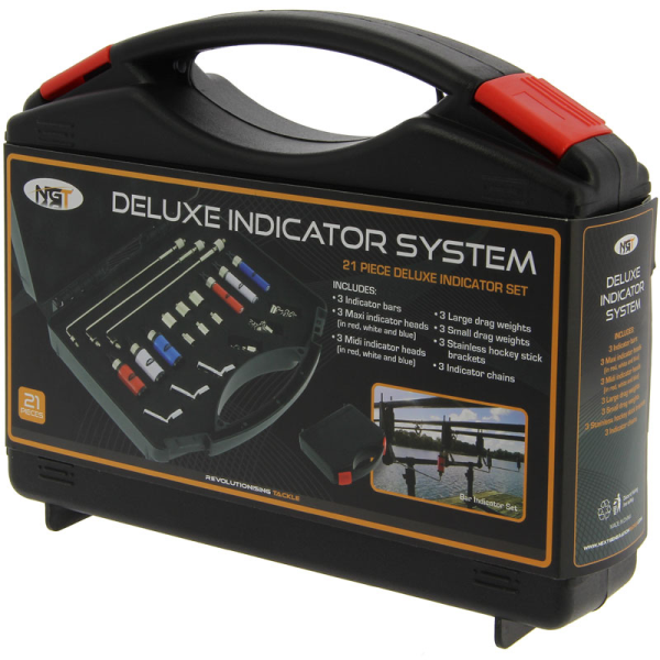 NGT Complete Midi/Maxi Deluxe Fishing Indicator Set In Case