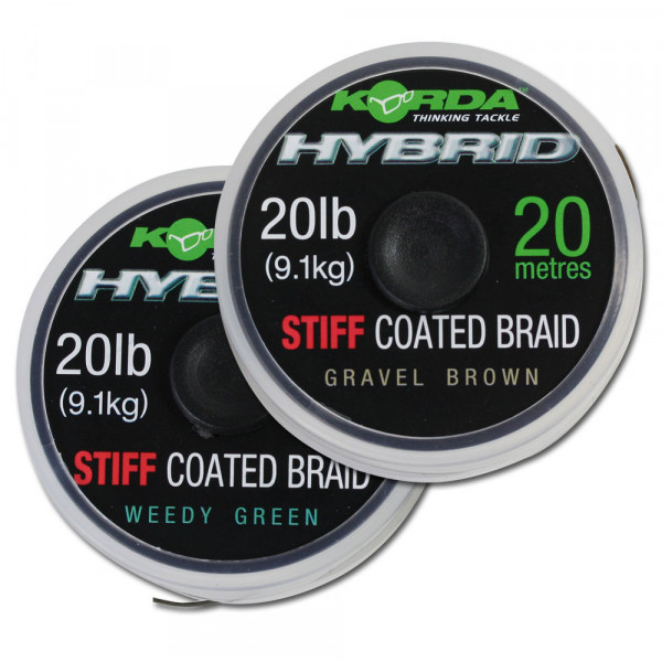 Korda Hybrid Stiff Coated Braid Weedy Green 20lb (20m)