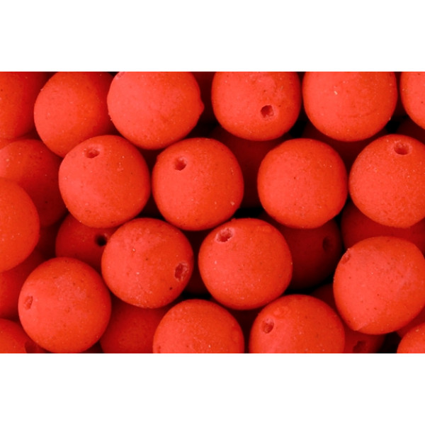 Spro Speedfeed Pre-Drilled Mini Boilies 'Fluo Strawberry' (9mm) (80g)