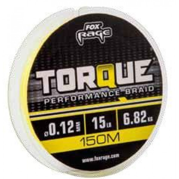 Fox Rage Torque Performance Braid Yellow 0.14mm (150m)